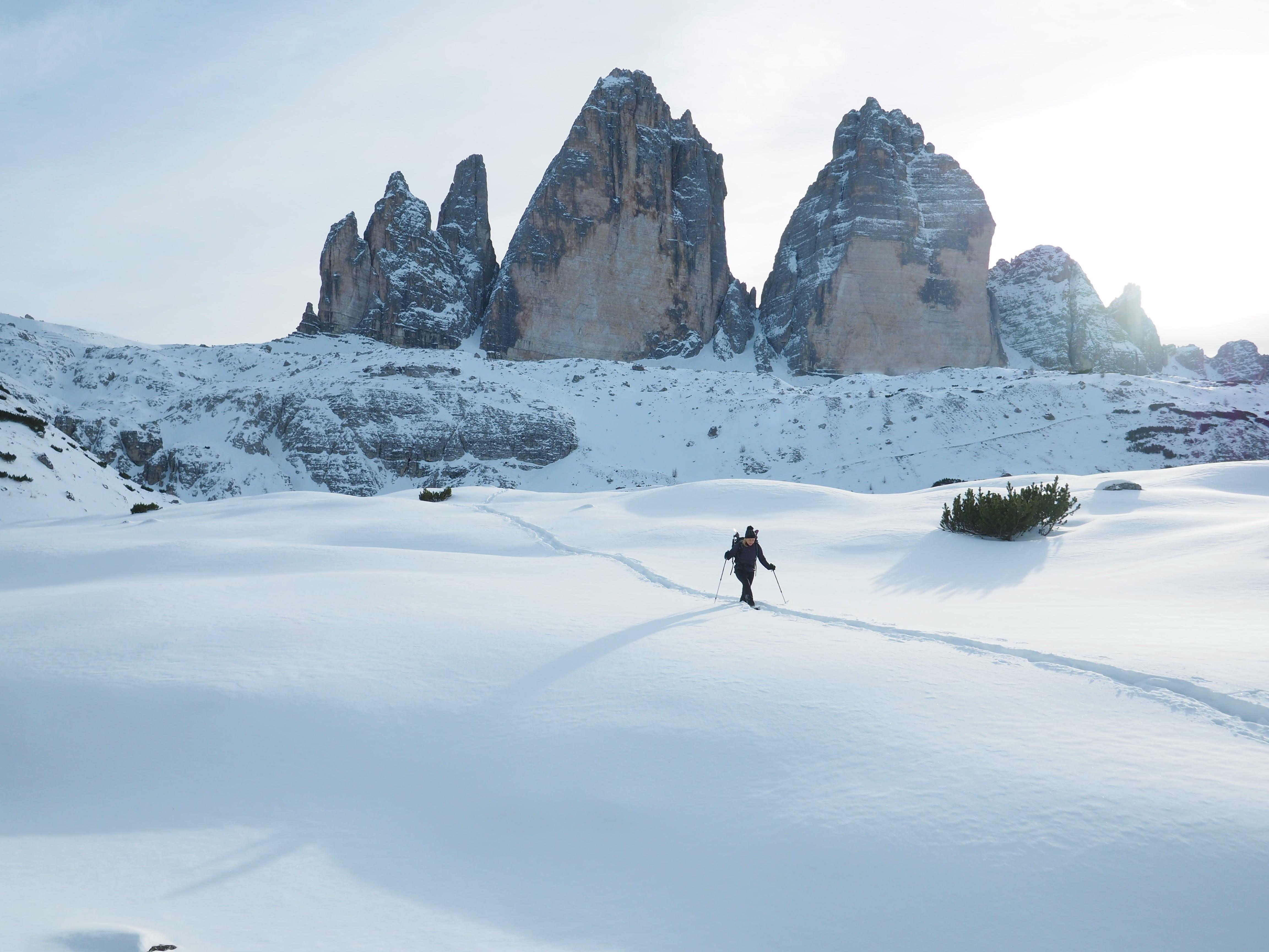 Escursione sulla neve alle Tre Cime di Lavaredo