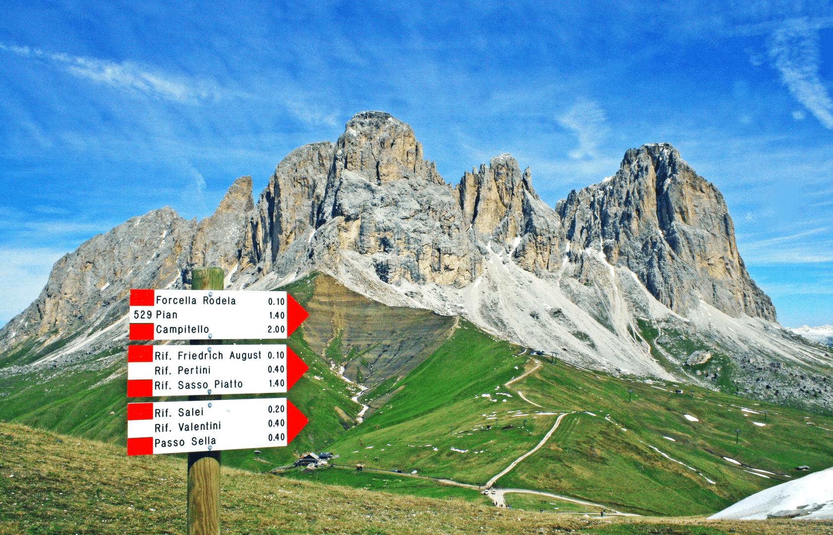 Escursione ad anello da Campitello di Fassa lungo il Friedrich August Weg